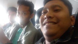 Pulang ke Banjarmasin, Lokasi Foto di Pesawat