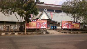 Suasana GOR Barabai tempat pameran buku
