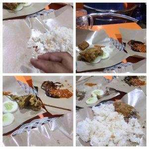 Makan di Ayam Goreng Mbak Widya (dibuat menggunakan https://www.fotojet.com/)
