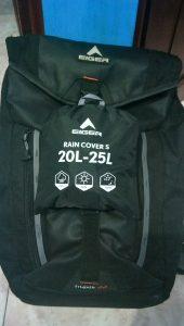 Cover Bag Eiger dan Tas Eiger